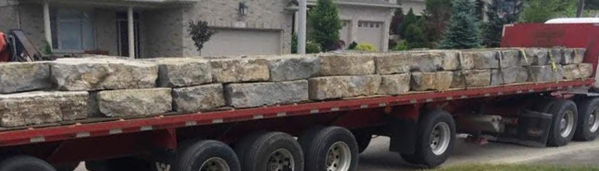 Armour Stone delivery to job site Waterloo