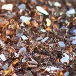Bronze crushed glass