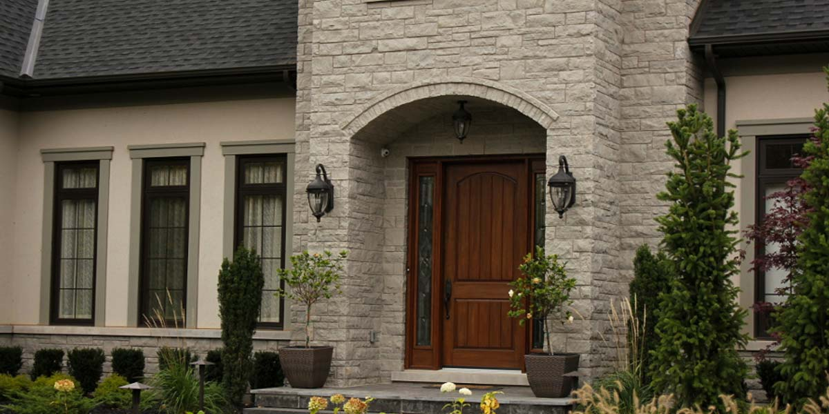 Cobalt Valley veneer stone mansion entrance