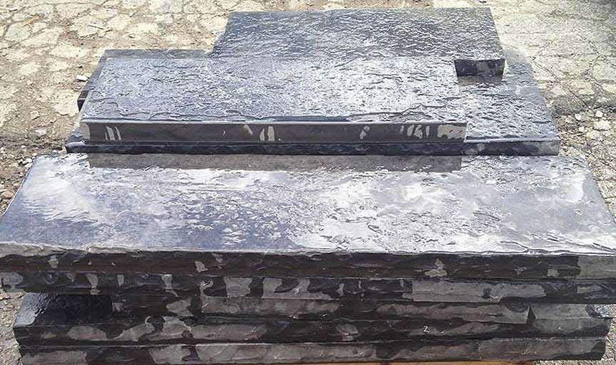 Black Marble Flamed