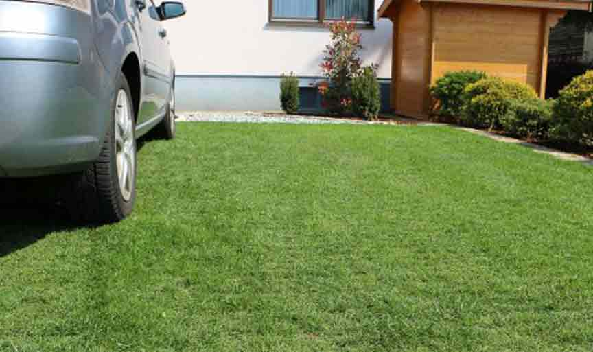 Ecoraster lawn grid parking