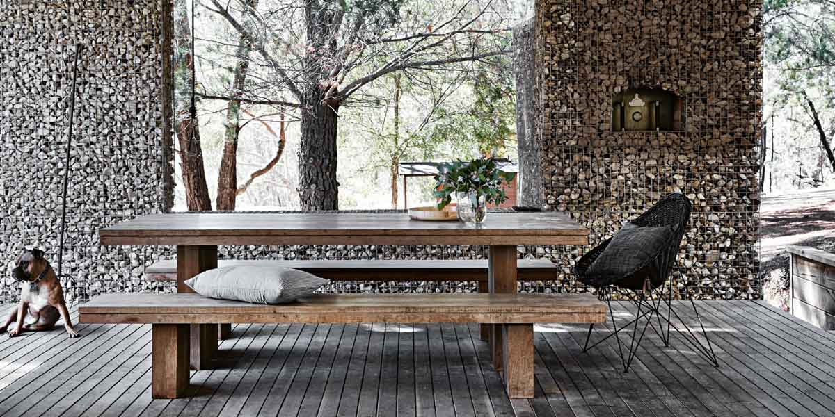 gabion table