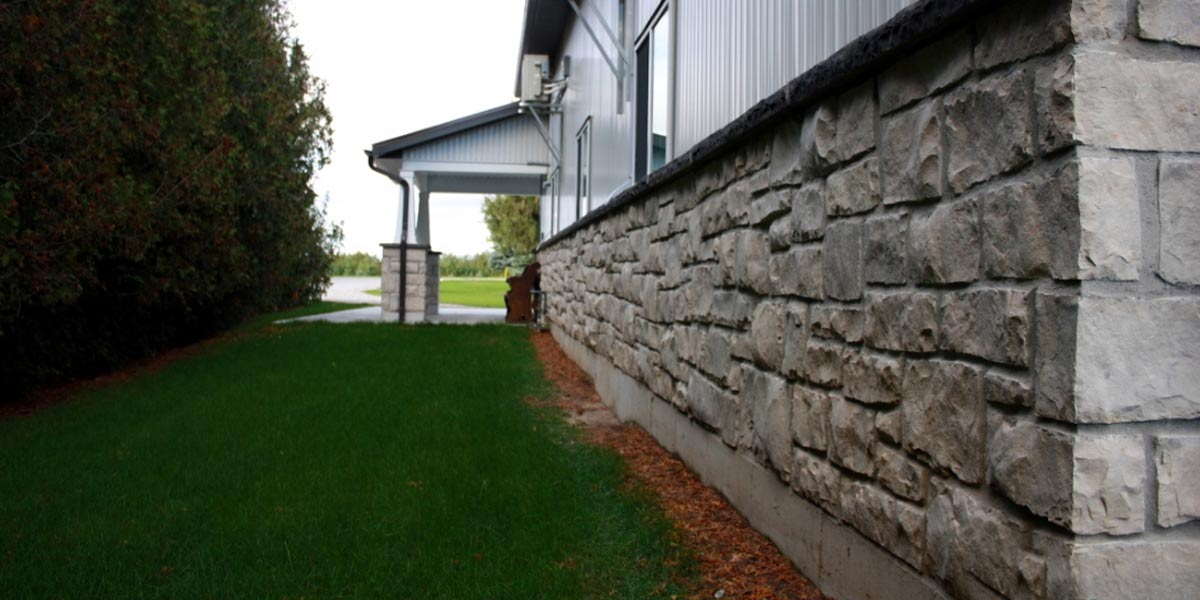 Guelph Buff veneer stone warehouse stone foundation