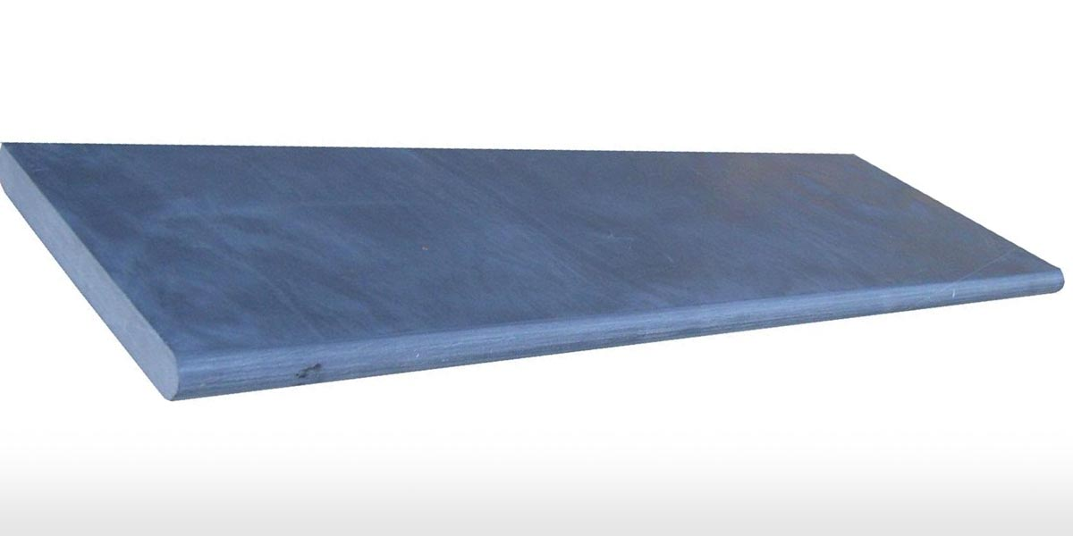 Imported Bullnose Coping blue coping stone rounded edge pool border