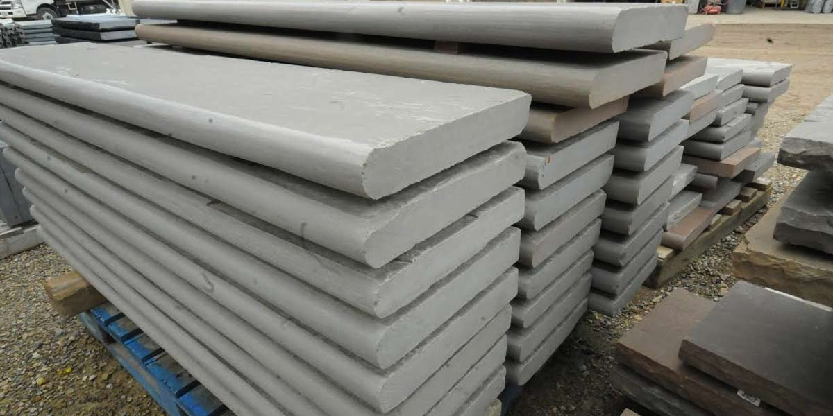 Imported Bullnose Coping stacked