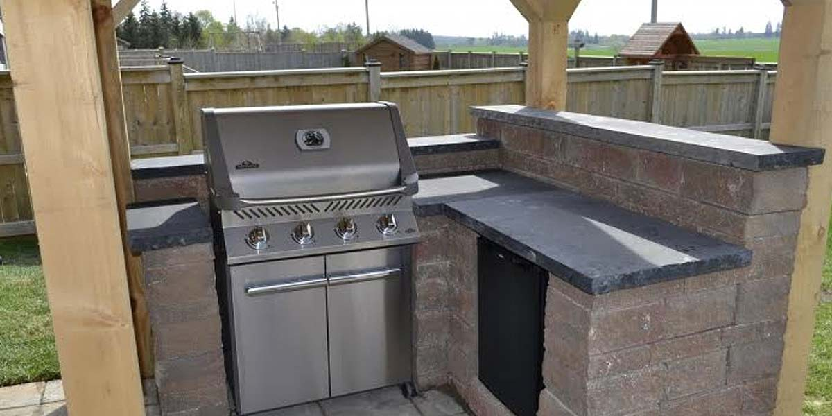 Imported Counter Tops/Jumbo Slabs countertop covered bbq area