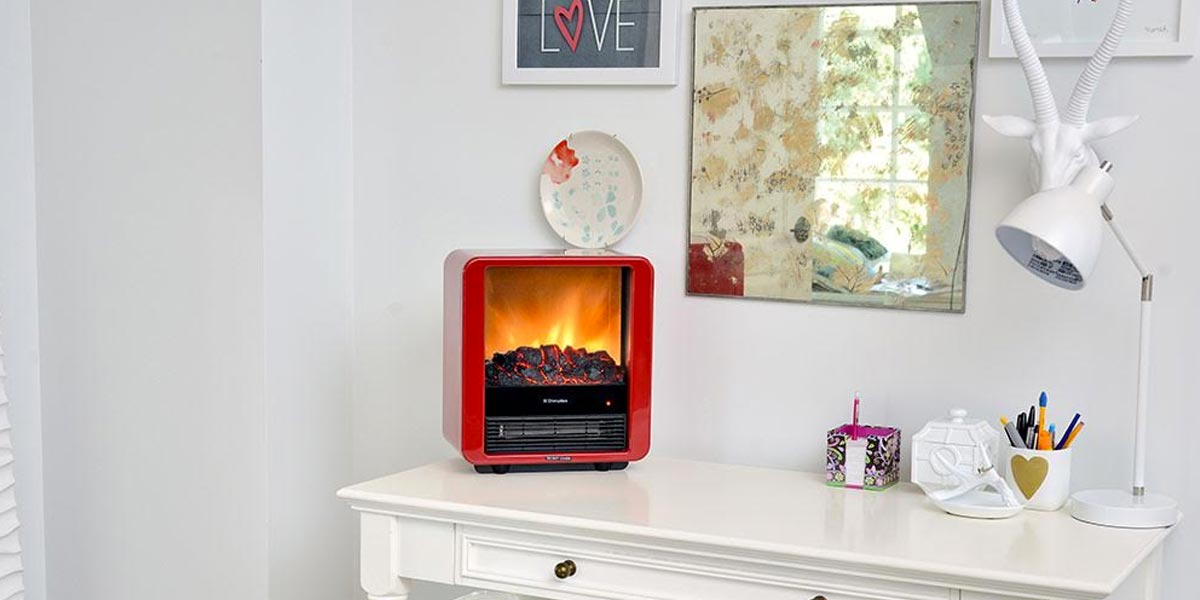 Mini Cube Electric Stone Heater Electric Fireplaces