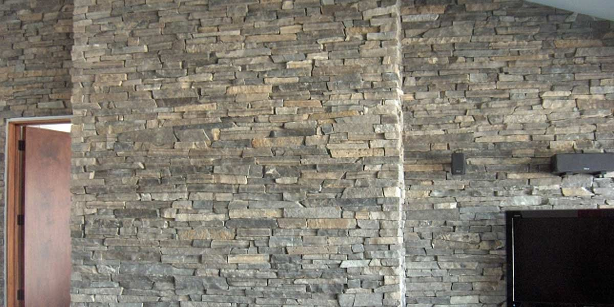 Oxford Ledge veneer stone interior wall