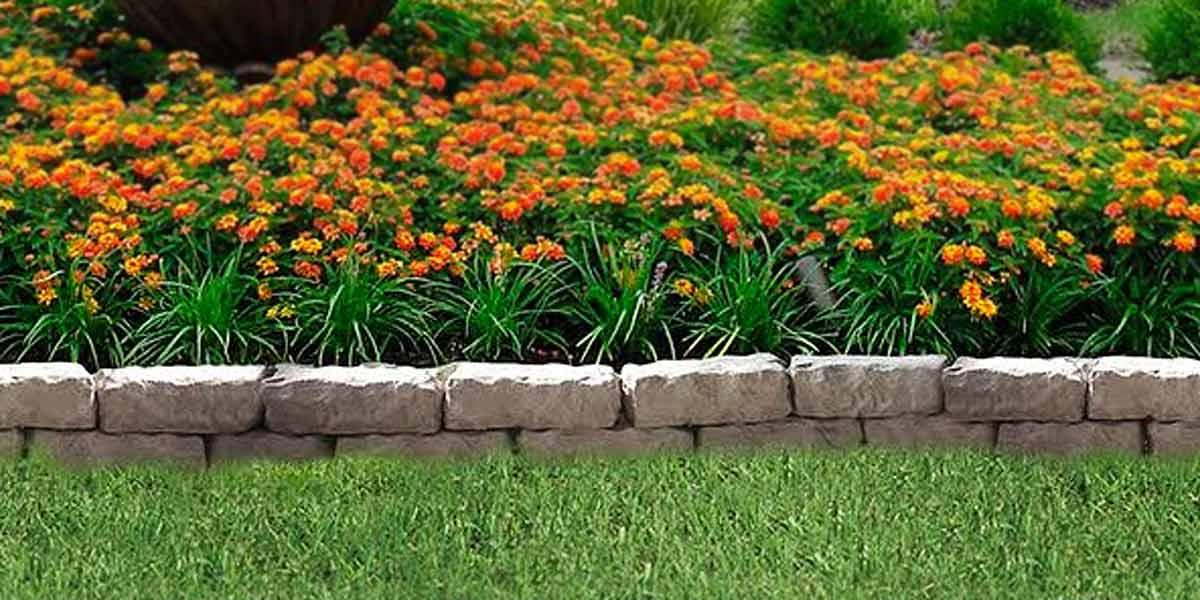 Rustic Garden Edge Creative Landscape, Garden Wall Edging